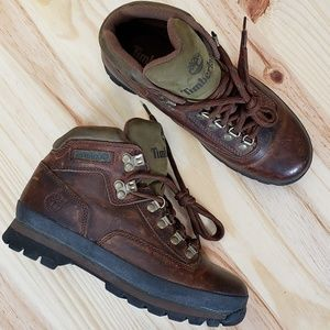 TIMBERLAND Womens Leather Euro Hiking Boots :657